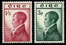 Stamps issued to commemorate republican hero Robert Emmet