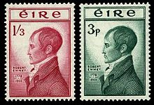 Stamps issued to commemorate republican hero Robert Emmet
