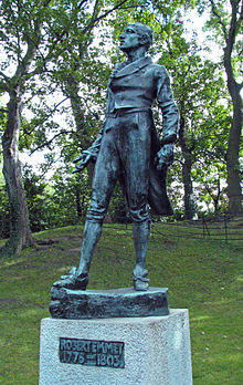 The Robert Emmet Statue in Stephen's Green